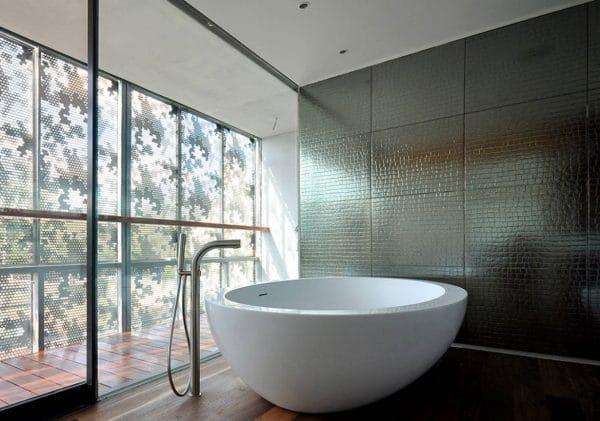 metallic tile trends